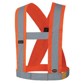 "Safety Orange - 5490 Hi-Vis CSA 4"" Wide Adjustable Safety Sash"