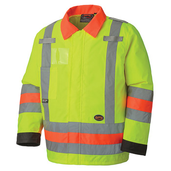6037 Hi-Vis Traffic Control Waterproof Safety Jacket