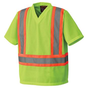 Safety Yellow - 5993P Hi-Viz Traffic T-shirt Front