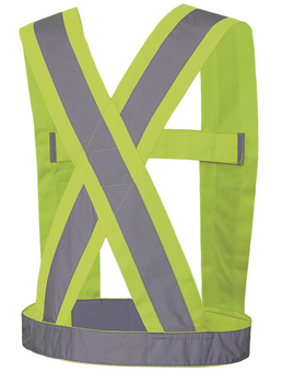 "5493 Hi-Viz CSA 4"" Wide Adjustable Sash Back | Safetywear.ca"