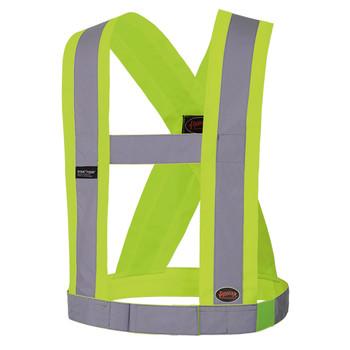 "5493 Hi-Viz CSA 4"" Wide Adjustable Sash Front | Safetywear.ca"