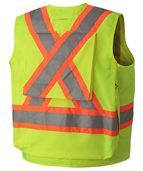 6696 Hi-Viz Surveyor's Vest, Back