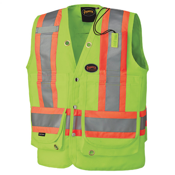 Safety Yellow - 6696 Hi-Viz Surveyor's Vest