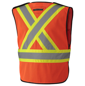Orange 6926 Hi-Viz Traffic Vest Back | Safetywear.ca