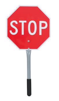 "454 Traffic Stop/Slow Paddle 12"""