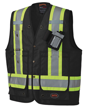 Black - 668 CSA Surveyor's / Supervisor's Vest