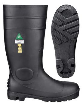 """1022 PVC 15"""" Steel Toe/Steel Plate Boot"""