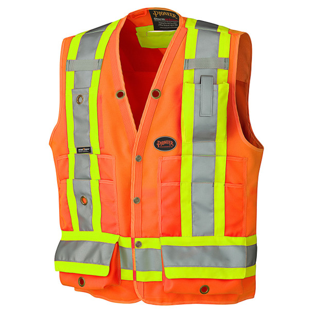 Safety Orange - 6692 Hi-Viz Surveyor's Safety Vest