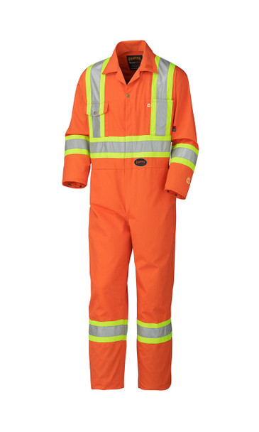 Orange 5555 Flame Resistant Cotton Safety Coverall | Safetywear.ca