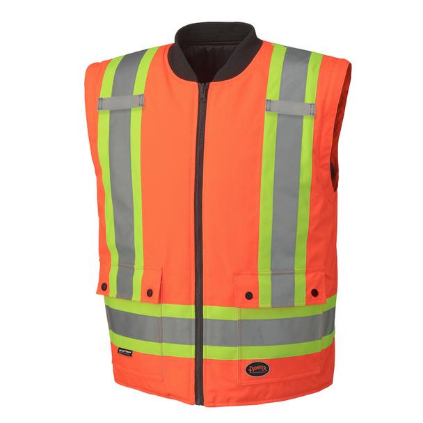 Orange, 4 - 5020BB Hi-Viz 100% Waterproof 6-In-1 Parka | Safetywear.ca