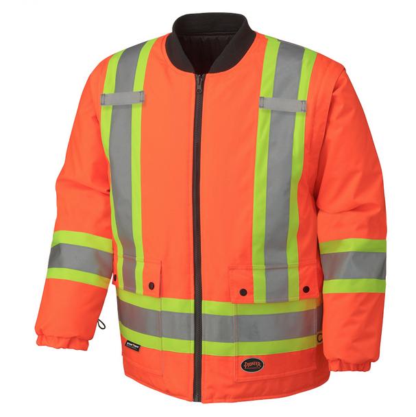 Orange, 3 - 5020BB Hi-Viz 100% Waterproof 6-In-1 Parka | Safetywear.ca