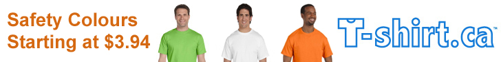 Safety colours on T-shirt.ca