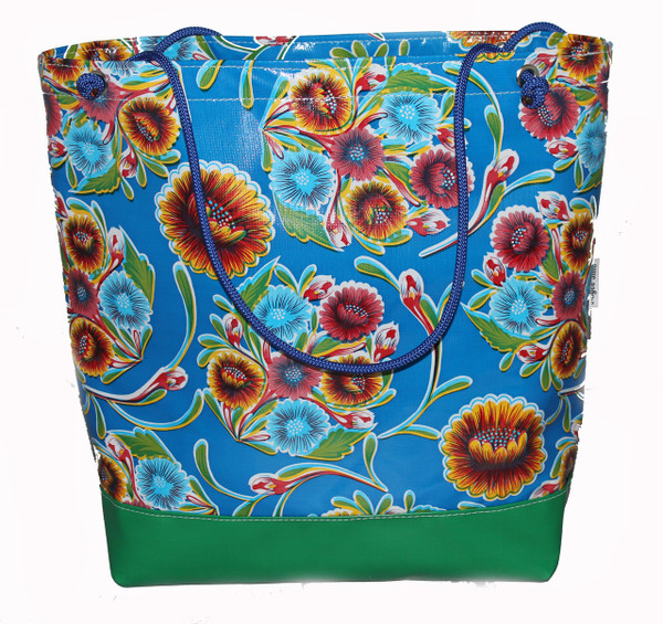 Beach Bag  Oil cloth with a double base 43cm L x 41cm H x 17cm D