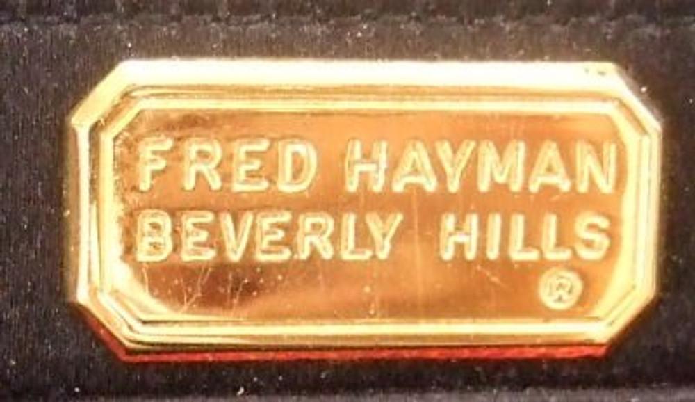 Fred Hayman Black Rhinestone and Tassel Detail Evening Bag