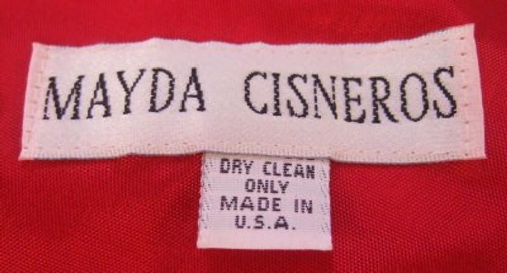 Mayda Cisneros Red Silk Evening Gown