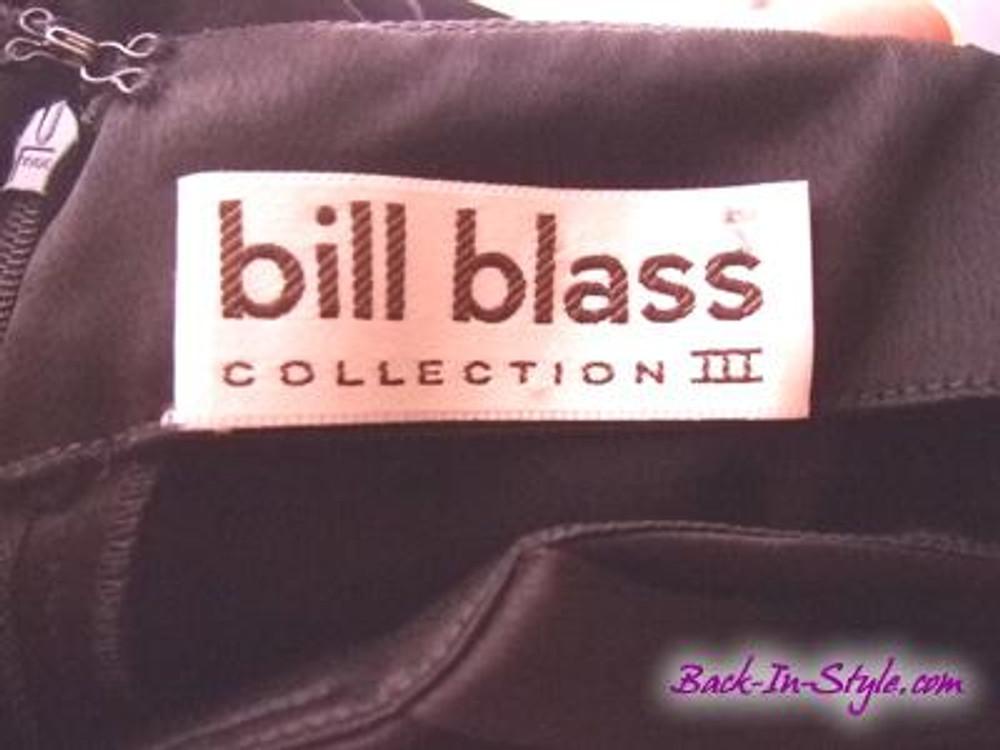 Vintage Bill Blass Black Satin Bow Cocktail Dress