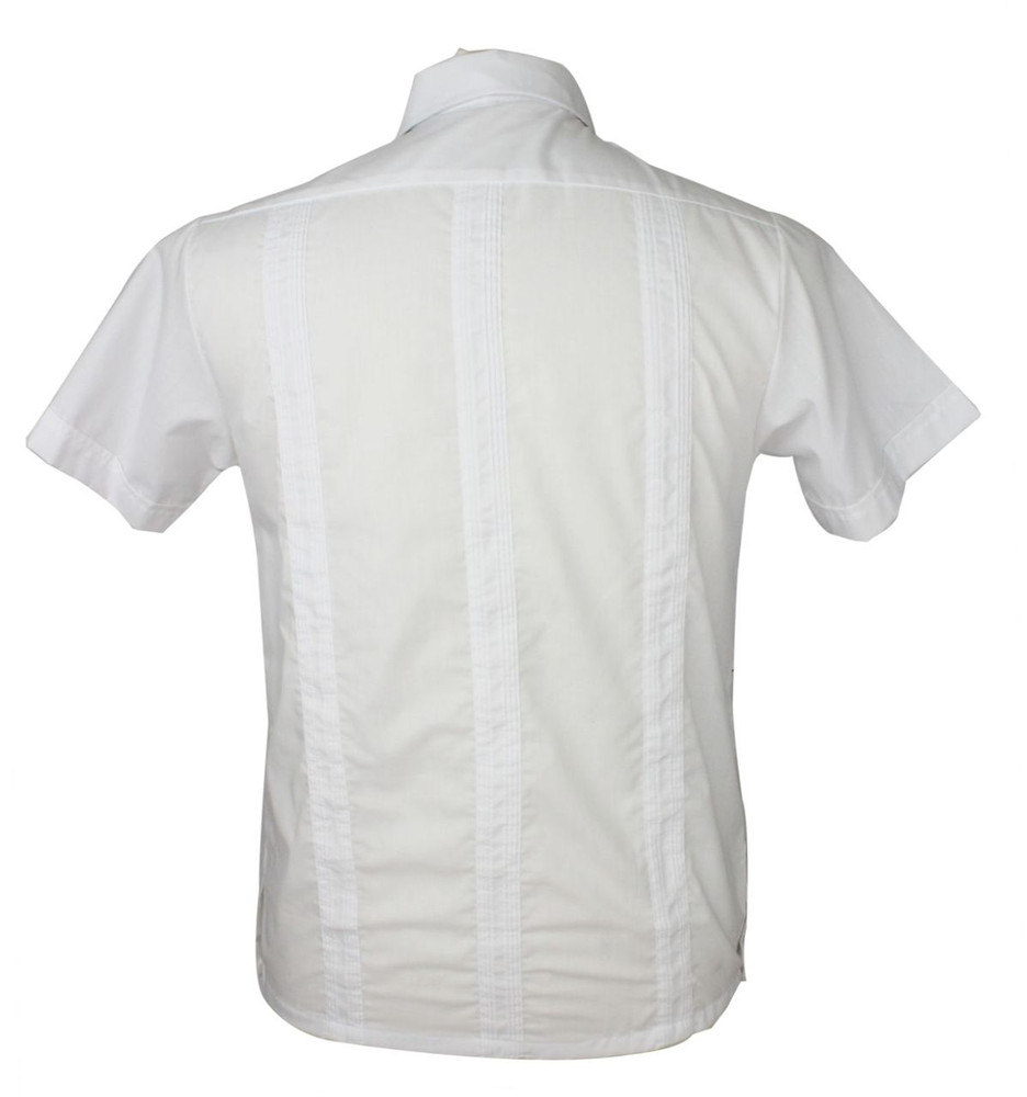 Vintage White Guayabera Embroidered Shirt