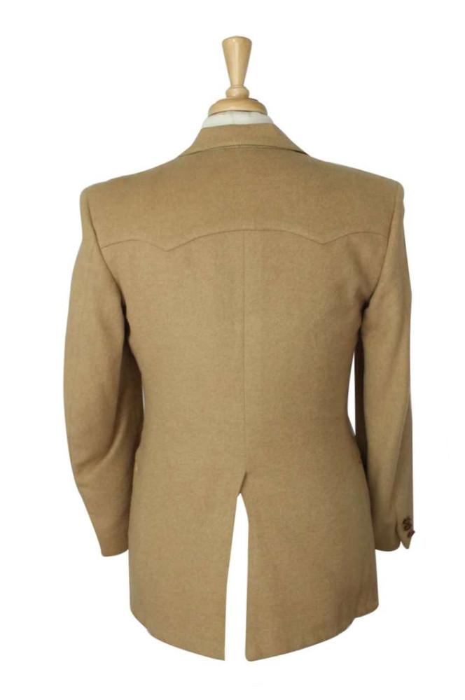 1970s Western Tan Wool Jacket