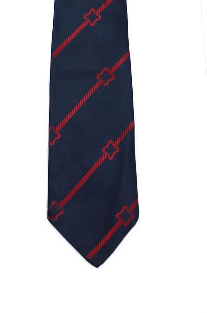 Vintage Sulka 1960s Navy Blue Silk Tie