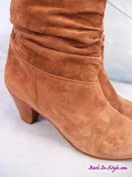 Vintage 1970s Francesca Martelli Brown Suede Slouchy Boots