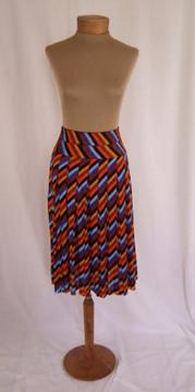 Vintage Missoni Silk Jersey Striped Pleated Skirt