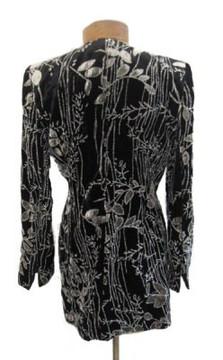 Badgley Mischka Black & Gray Velvet Jacket with Embellishments