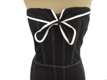 Betsey Johnson Black Corset Style Dress