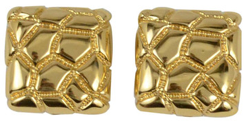 St. John Gold-Tone Weaved Square Earrings