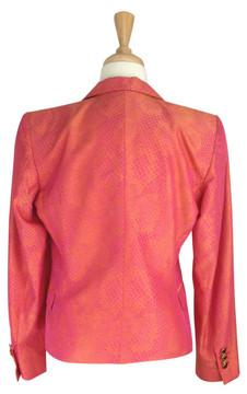 Versace Hot Pink & Orange Snake Skin Print Jacket