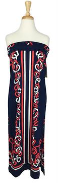 Vintage Mr. Dino Nautical Strapless Dress or Maxi Skirt