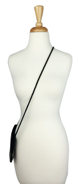 Black & Silver Beaded Cross Body Bag 1