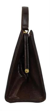 Vintage Escort 1950s Brown Lizard Handbag