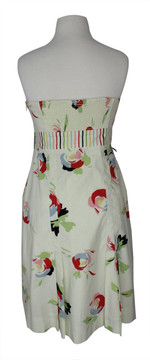 Maeve Anthropologie Floral Strapless Dress