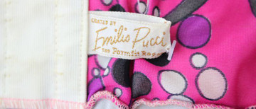 Vintage Emilio Pucci for Formfit Rogers 1960s Pink Spaghetti Strap Slip Dress