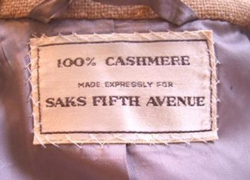 Saks Fifth Avenue tan cashmere jacket