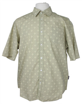 Ted Baker Khaki & Tan Print Short Sleeve Shirt