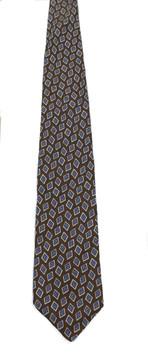 Vintage John Freitz Brown Silk Tie