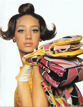 Vintage 1960s Emilio Pucci Velvet Clutch