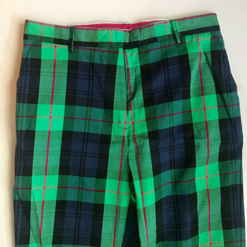 NWT Lilly Pulitzer green navy blue plaid pants new