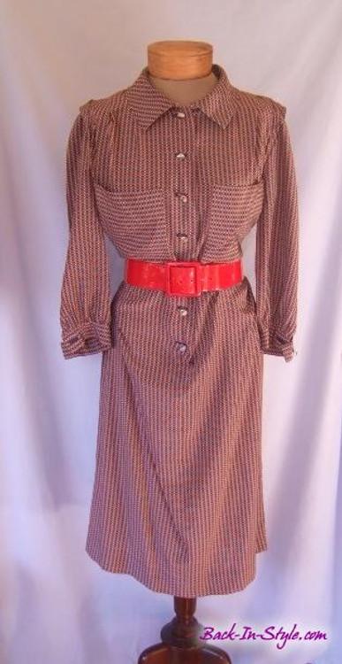 Vintage Balenciaga Silk Shirt Dress
