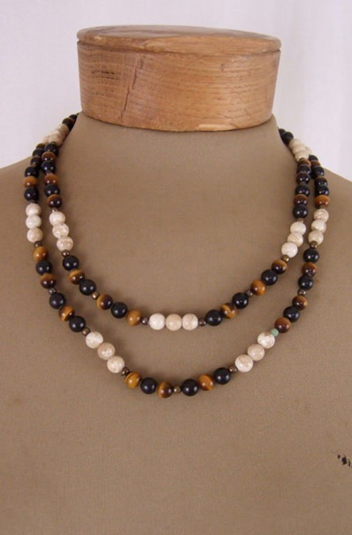Tiger's Eye Double Strand Necklace