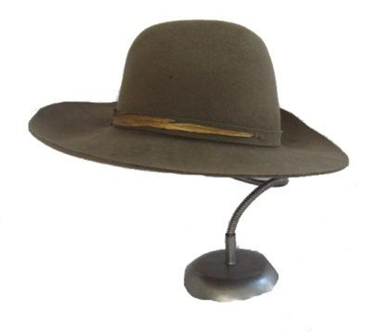 Frank Olive Green Wide Brim Hat with Feather