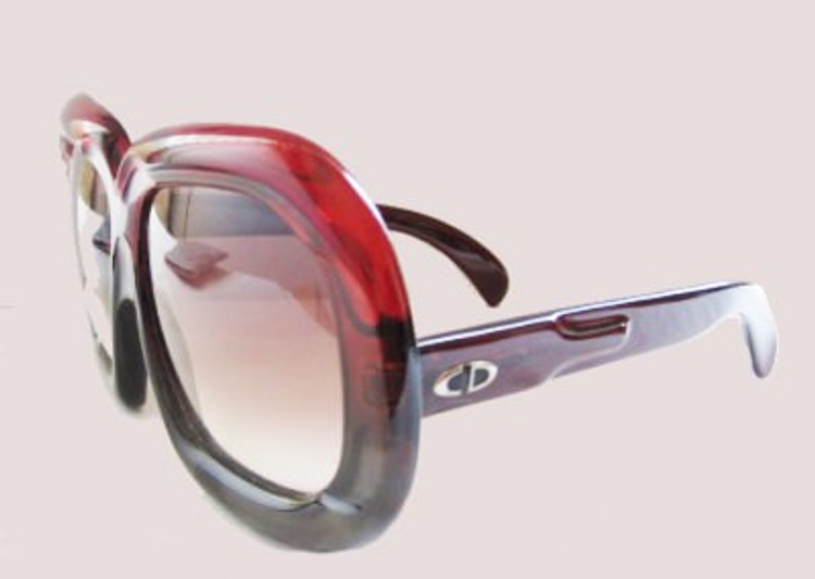 Vintage 1960s Christian Dior Two Tone Oversized Sunglasses