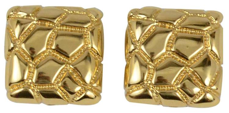 St. John Gold-Tone Weaved Square Earrings