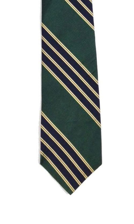 Bert Pulitzer Navy & Green Diagonally Striped Tie