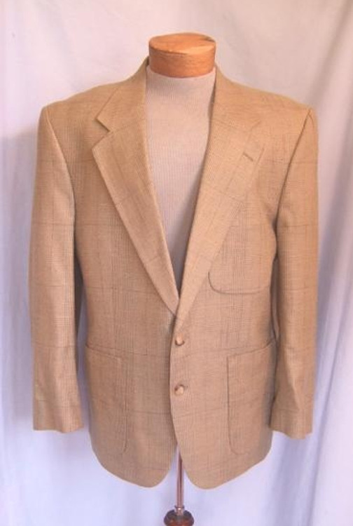 Burberry Beige Silk Plaid Jacket