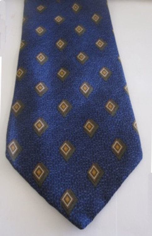 Calvin Klein blue and yellow diamond tie