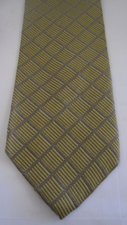 Calvin Klein silver & gold lattice tie