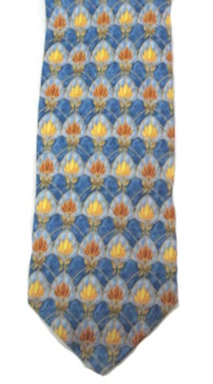 Ermenegildo Zegna Blue & Yellow Floral Tie