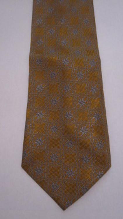 Retro Gold & Light Blue Tie